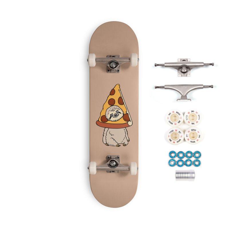 Pizza Sloth Accessories Skateboard by huebucket's Artist Shop