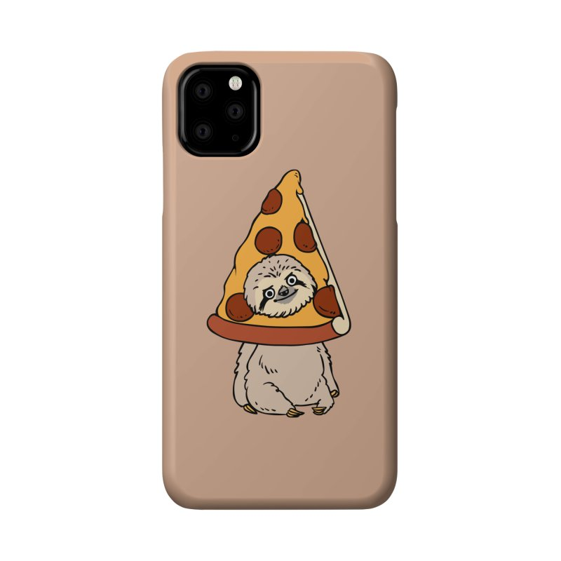 Pizza Sloth Accessories Phone Case by huebucket's Artist Shop
