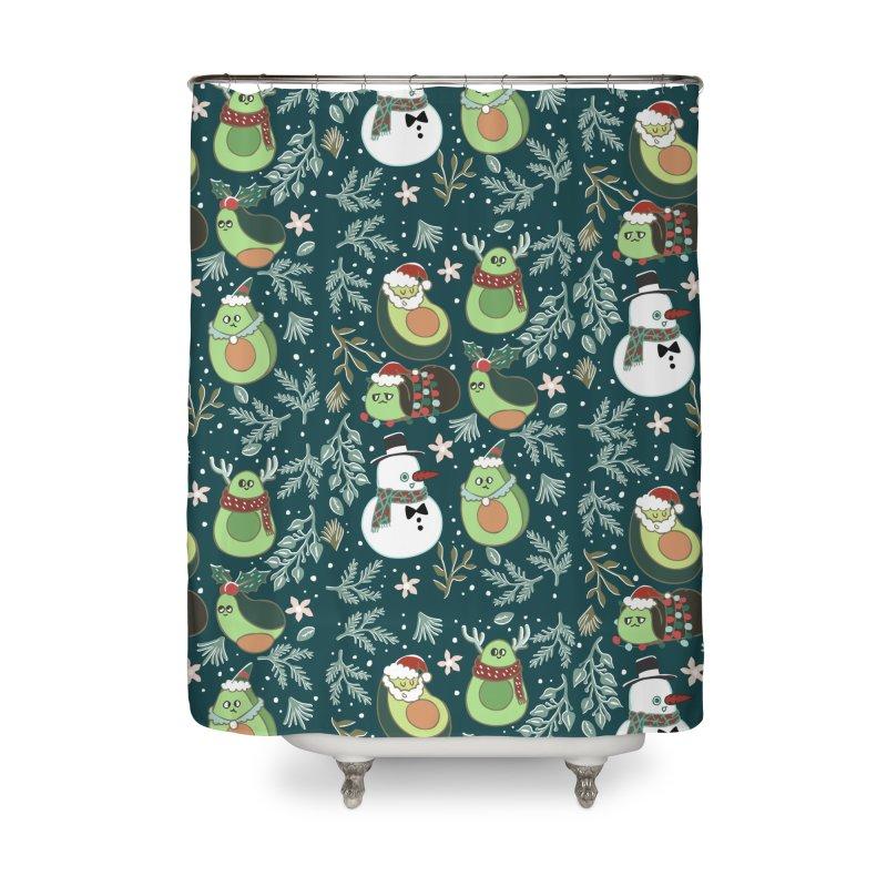Christmas Avocado Home Shower Curtain by huebucket's Artist Shop