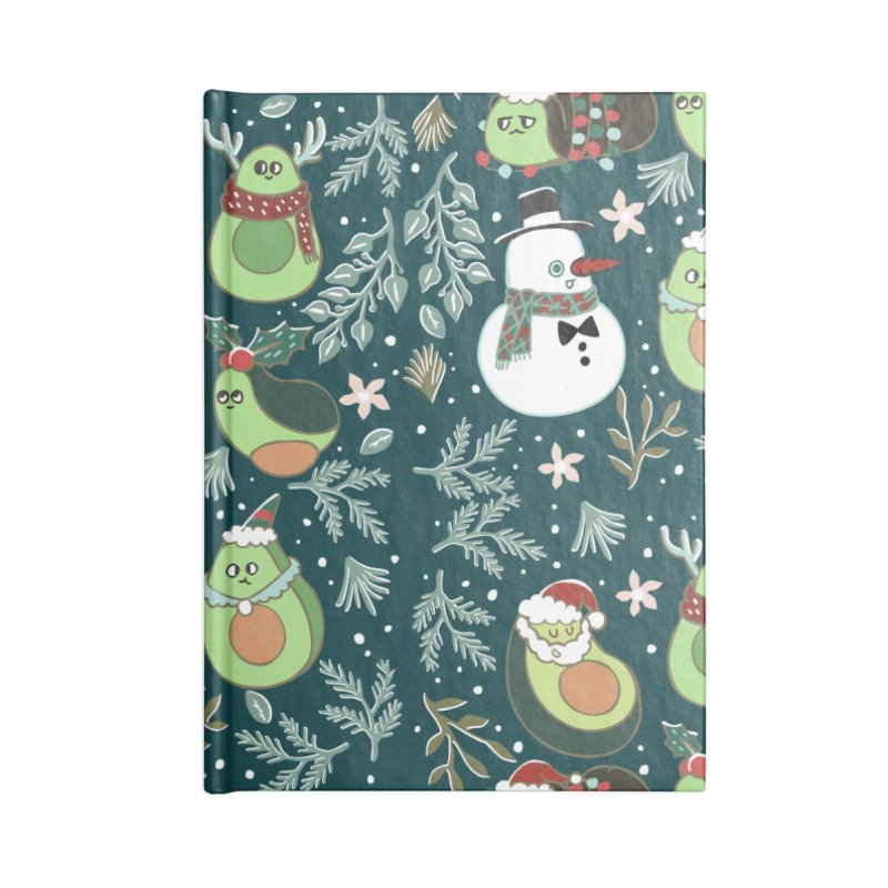 Christmas Avocado Accessories Lined Journal Notebook by huebucket's Artist Shop