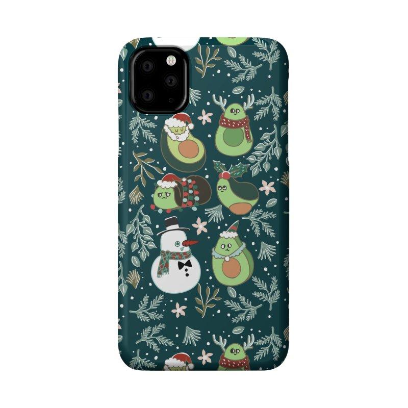 Christmas Avocado Accessories Phone Case by huebucket's Artist Shop