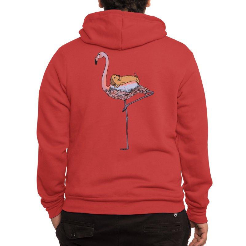 Flamingo and Dachshund Men's Zip-Up Hoody by huebucket's Artist Shop