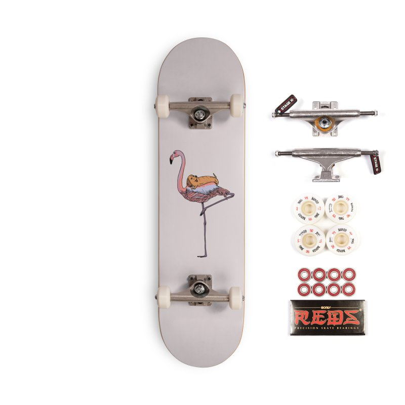 Flamingo and Dachshund Accessories Complete - Pro Skateboard by huebucket's Artist Shop