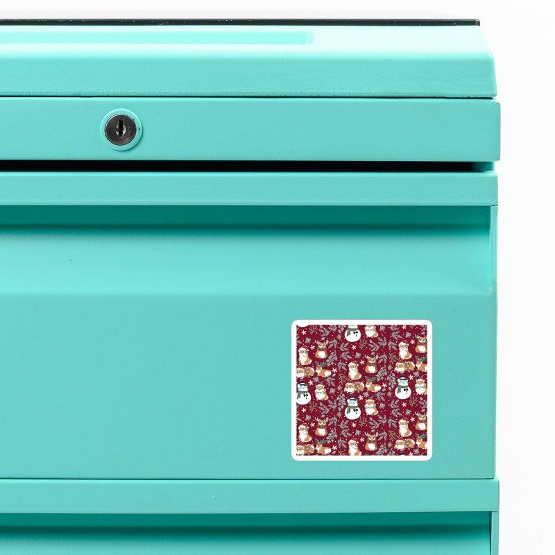 Christmas Corgis Accessories Magnet by huebucket's Artist Shop