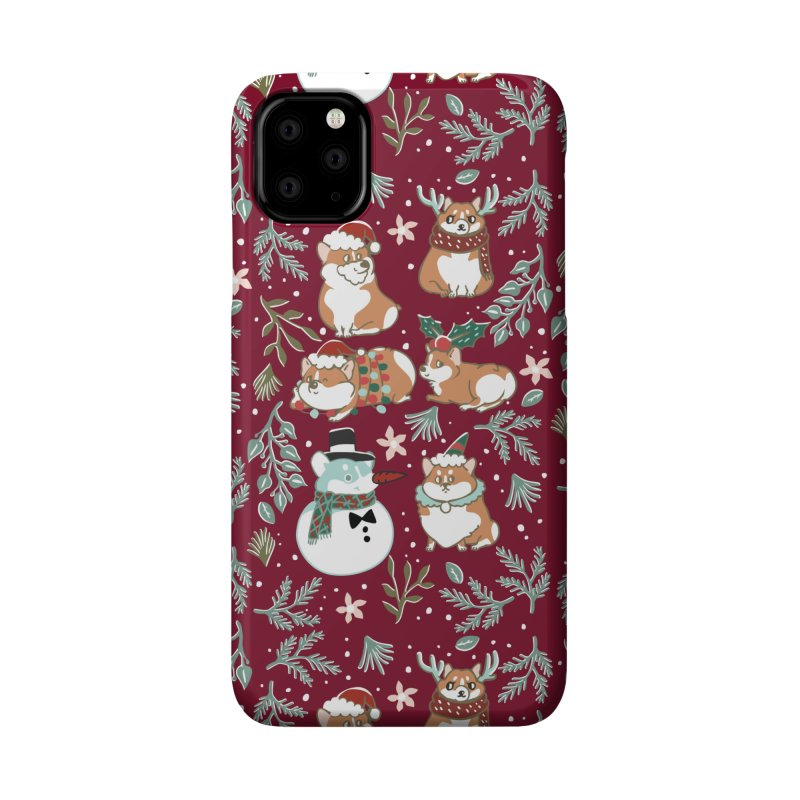 Christmas Corgis Accessories Phone Case by huebucket's Artist Shop