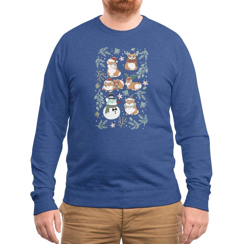 Christmas Corgis Men's Sweatshirt by huebucket's Artist Shop