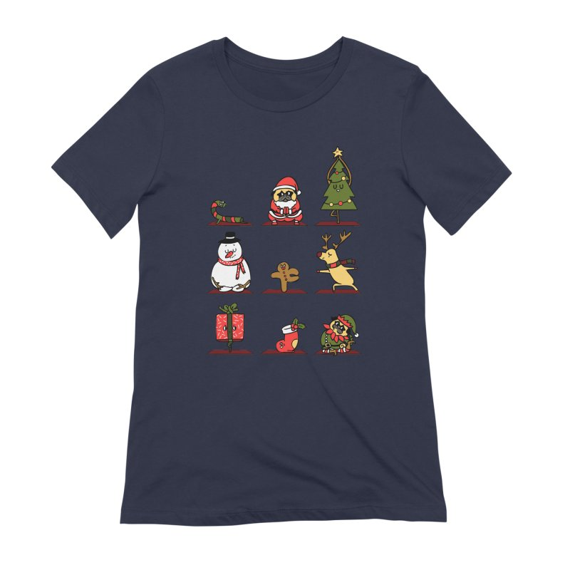 Christmas Yoga Women's Extra Soft T-Shirt by huebucket's Artist Shop