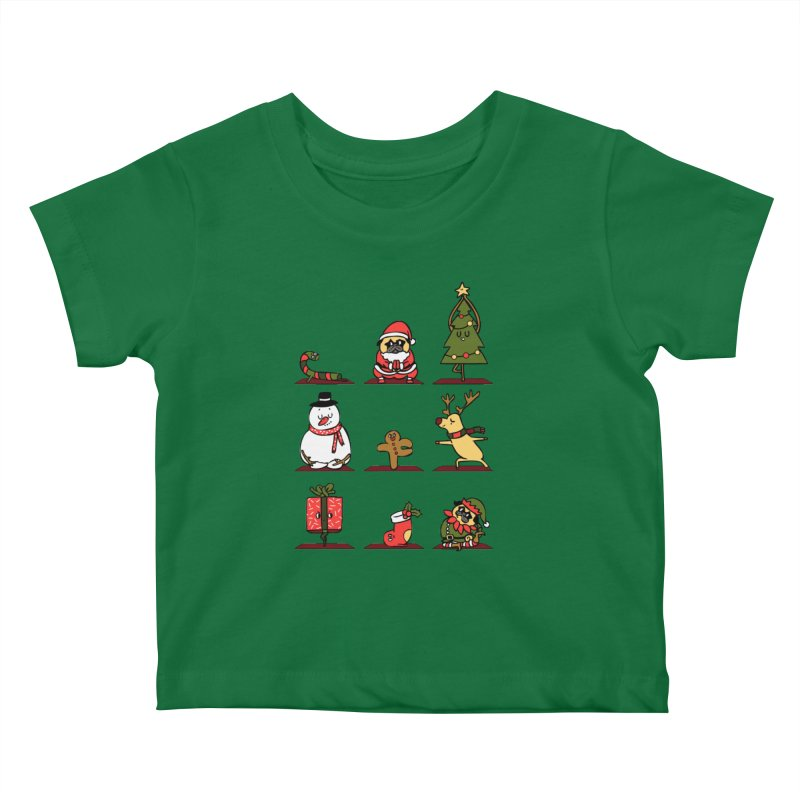 Christmas Yoga Kids Baby T-Shirt by huebucket's Artist Shop