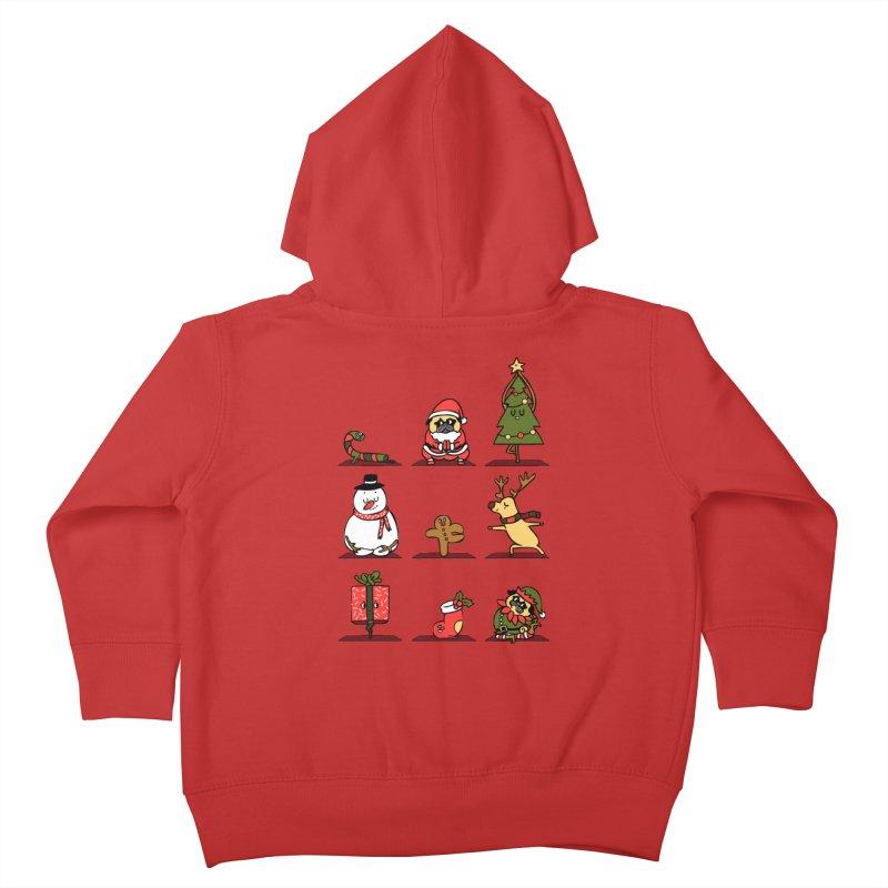 Christmas Yoga Kids Toddler Zip-Up Hoody by huebucket's Artist Shop