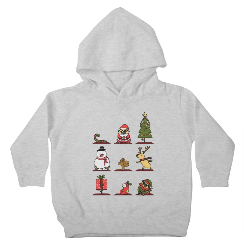 Christmas Yoga Kids Toddler Pullover Hoody by huebucket's Artist Shop