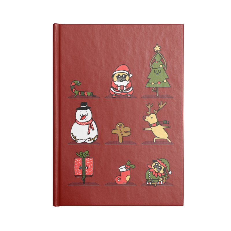 Christmas Yoga Accessories Lined Journal Notebook by huebucket's Artist Shop