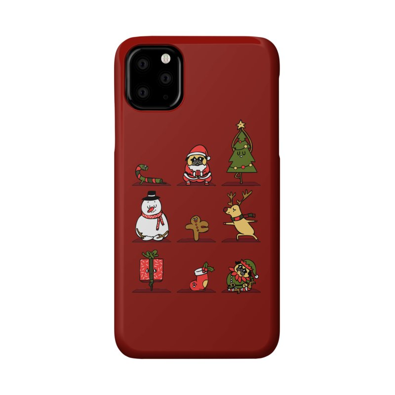Christmas Yoga Accessories Phone Case by huebucket's Artist Shop