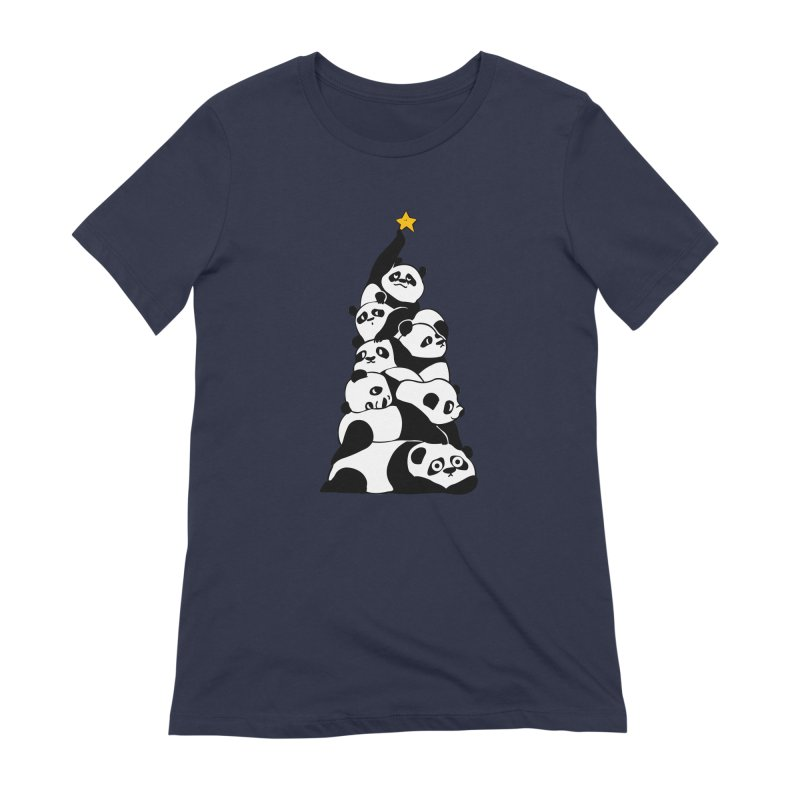 Christmas Tree Pandas Women's Extra Soft T-Shirt by huebucket's Artist Shop