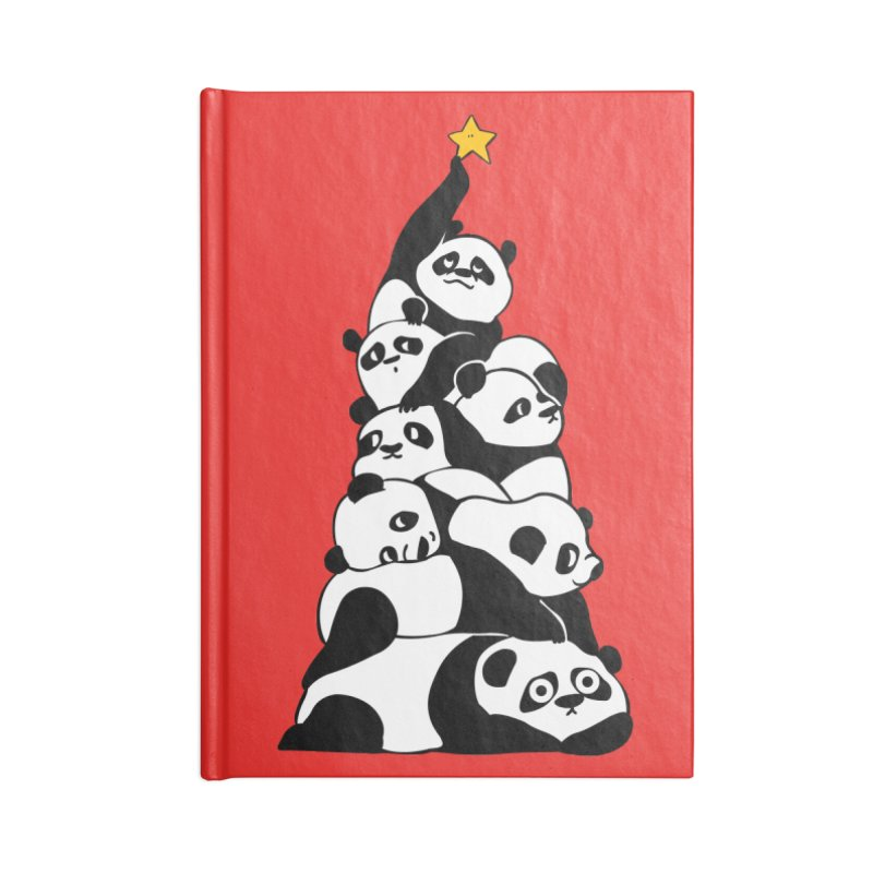 Christmas Tree Pandas Accessories Lined Journal Notebook by huebucket's Artist Shop