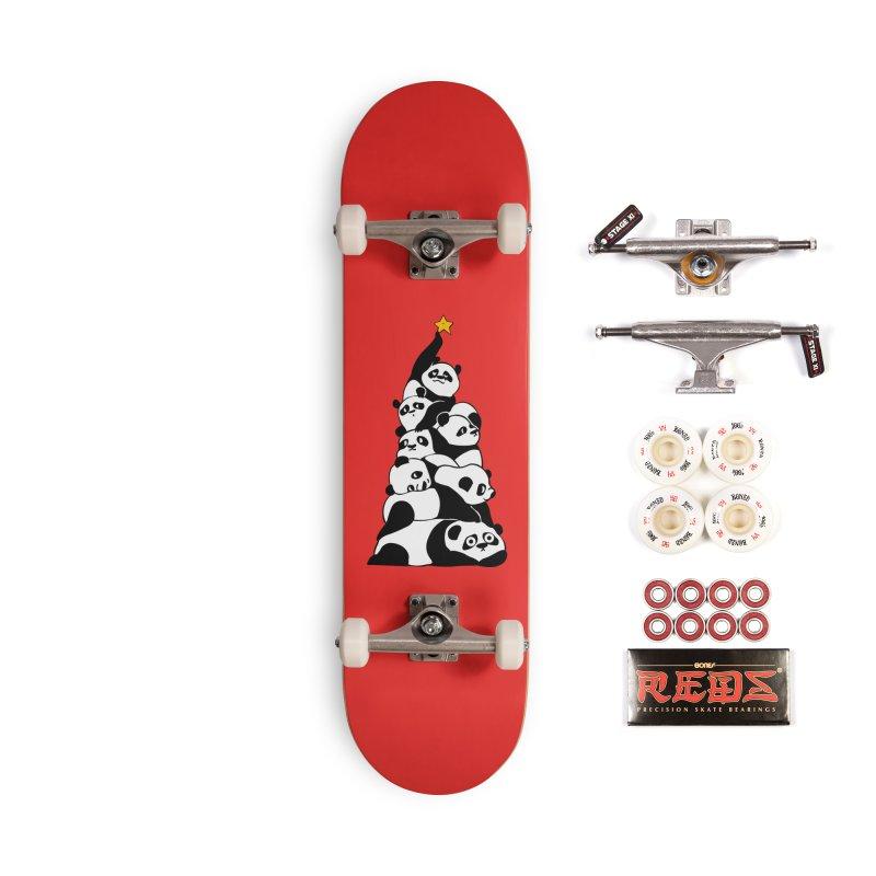 Christmas Tree Pandas Accessories Complete - Pro Skateboard by huebucket's Artist Shop