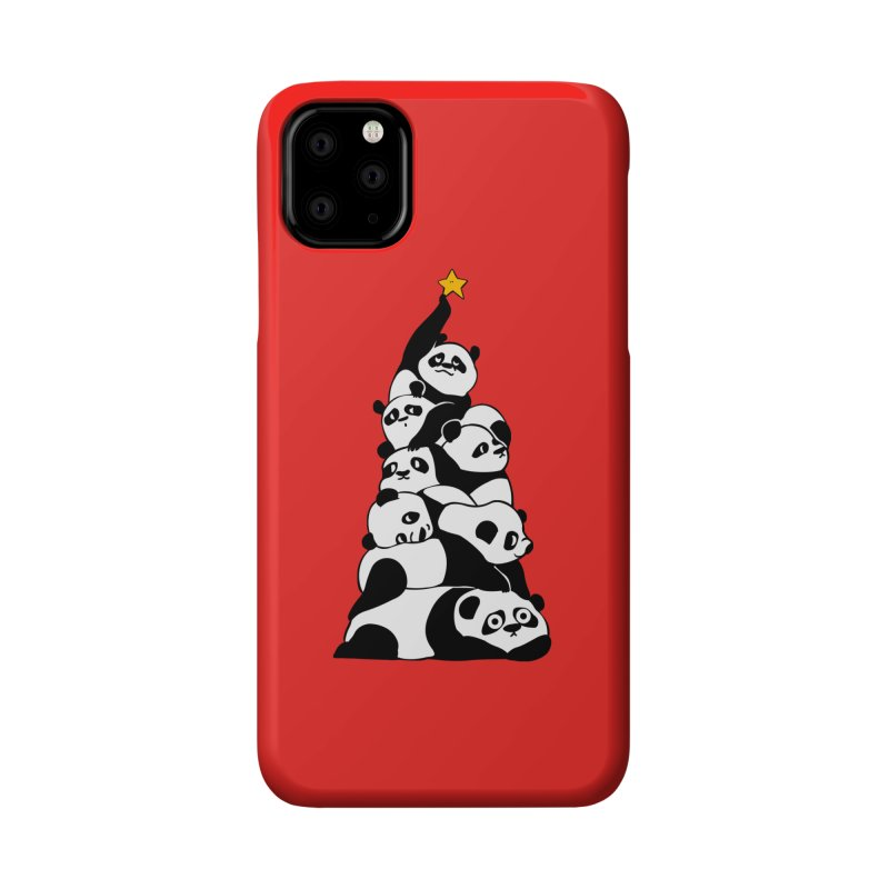 Christmas Tree Pandas Accessories Phone Case by huebucket's Artist Shop