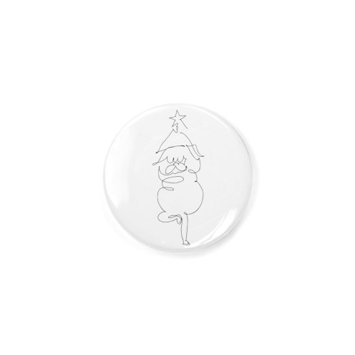image for One Line Pug Yoga Christmas Tree