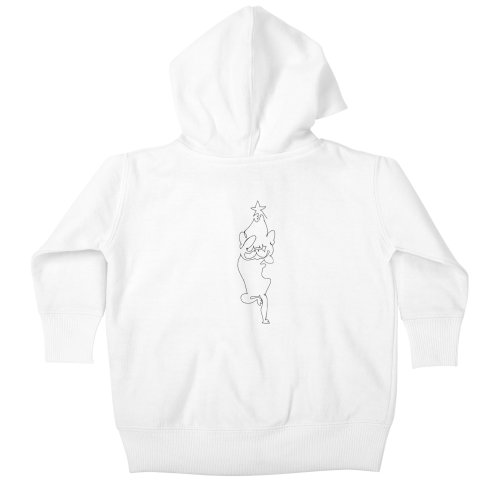 image for One Line Frenchie Yoga Christmas Tree