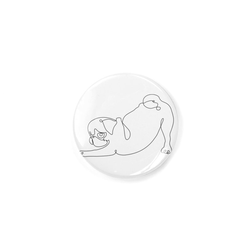 One line Frenchie Downward Dog Accessories Button by huebucket's Artist Shop
