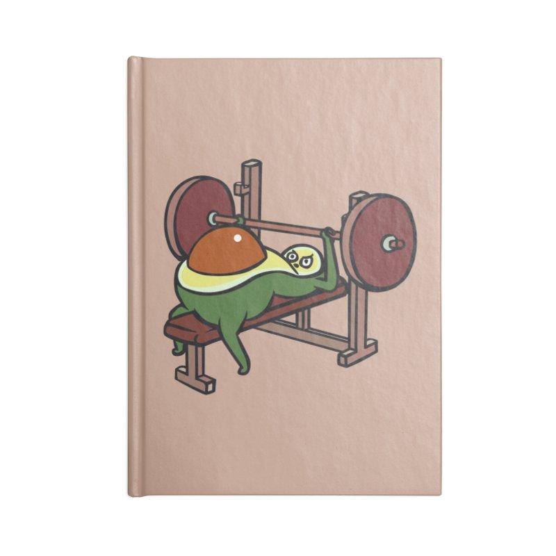 Avocado Bench Press Accessories Blank Journal Notebook by huebucket's Artist Shop