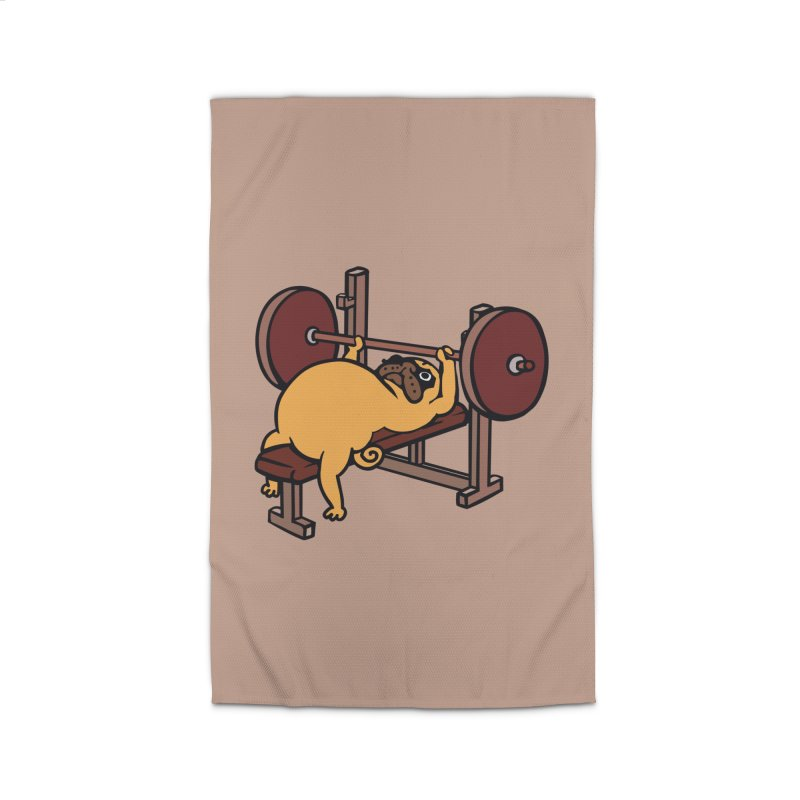 Pug Bench Press Home Rug by huebucket's Artist Shop