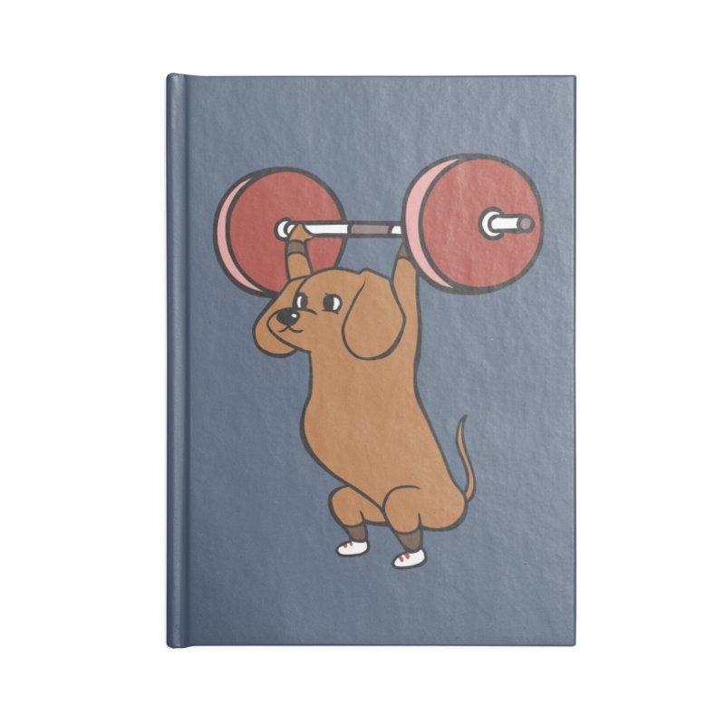 The snatch weightlifting Dachshund Accessories Blank Journal Notebook by huebucket's Artist Shop