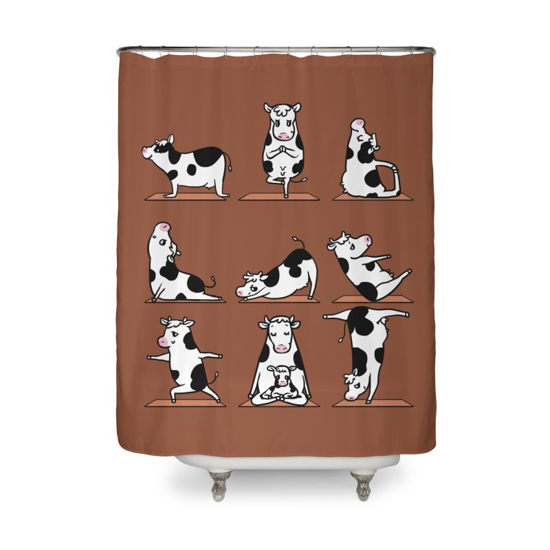 Moo Yoga Home Shower Curtain by huebucket's Artist Shop