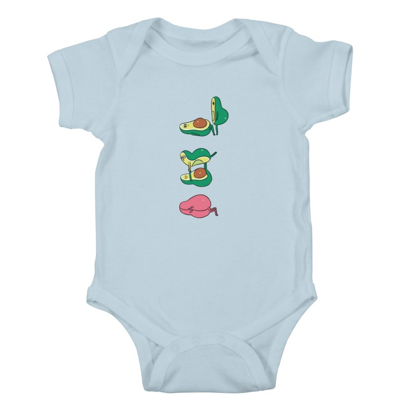 Acroyoga Avocado Love Kids Baby Bodysuit by huebucket's Artist Shop