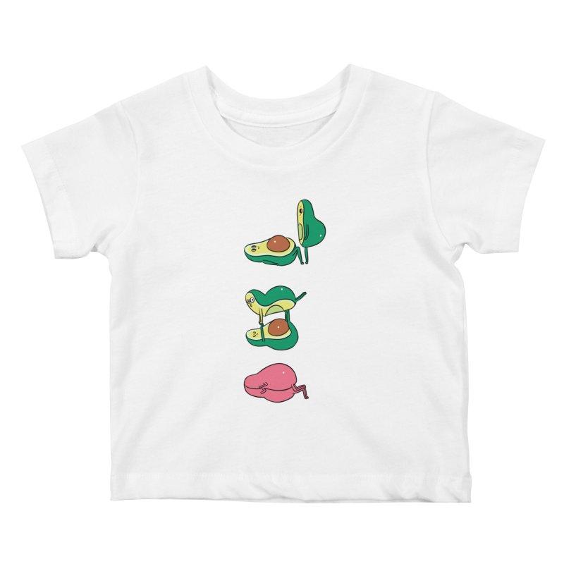 Acroyoga Avocado Love Kids Baby T-Shirt by huebucket's Artist Shop