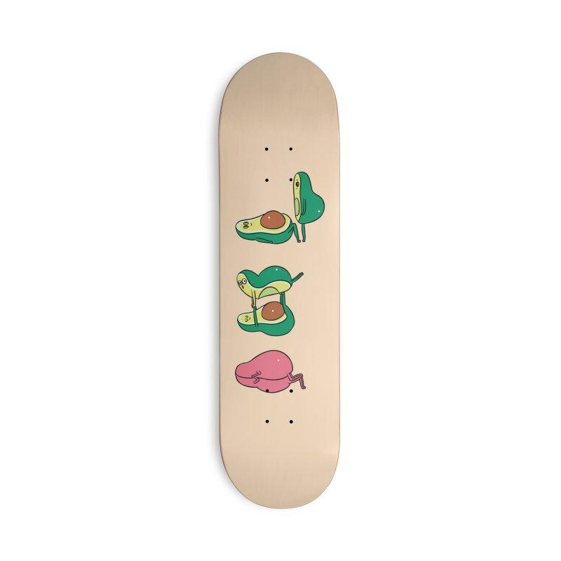 Acroyoga Avocado Love Accessories Deck Only Skateboard by huebucket's Artist Shop