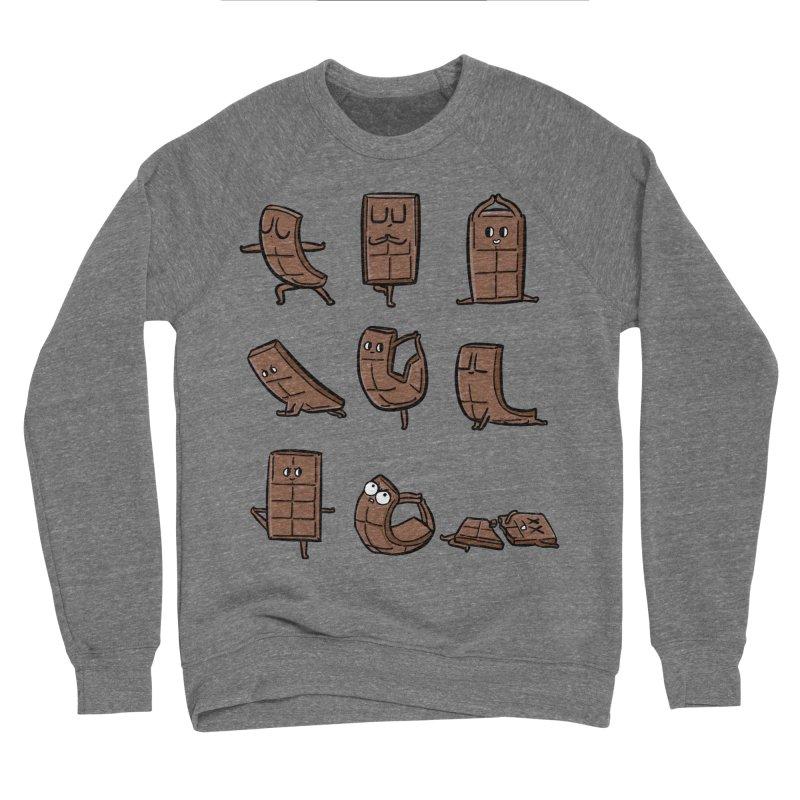 Chocolate Yoga Men's Sponge Fleece Sweatshirt by huebucket's Artist Shop