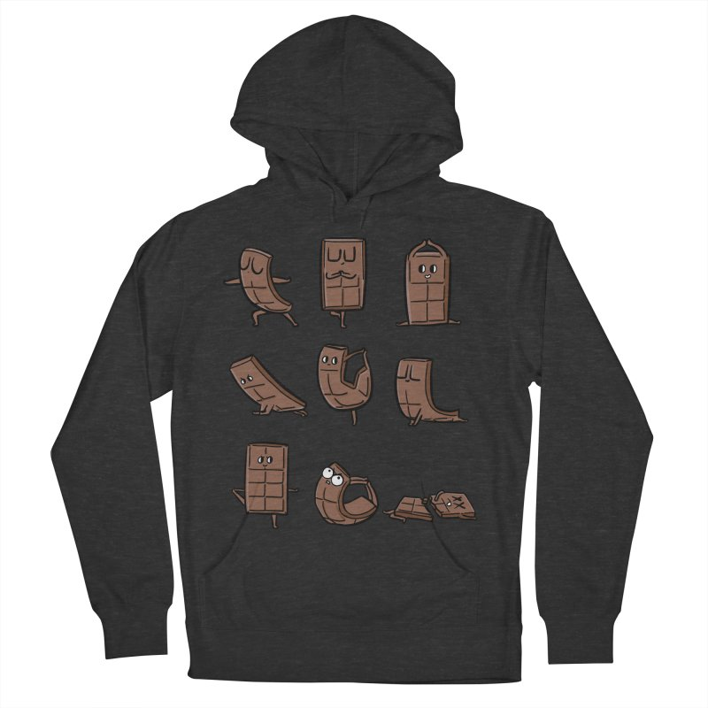 Chocolate Yoga Men's French Terry Pullover Hoody by huebucket's Artist Shop