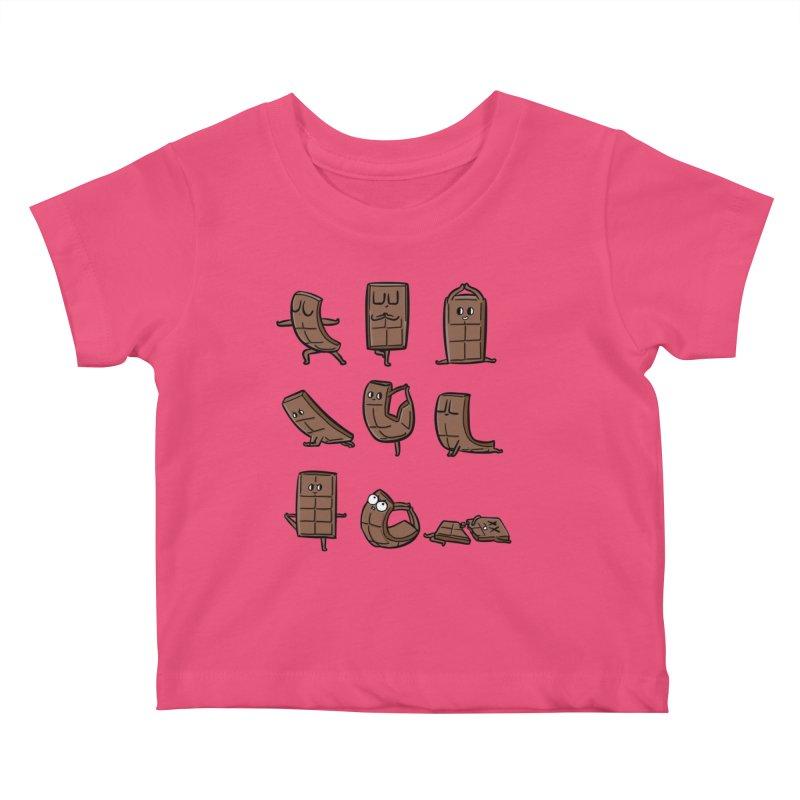 Chocolate Yoga Kids Baby T-Shirt by huebucket's Artist Shop