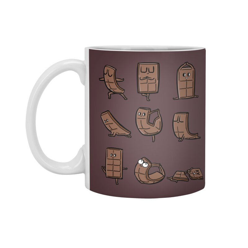 Chocolate Yoga Accessories Standard Mug by huebucket's Artist Shop