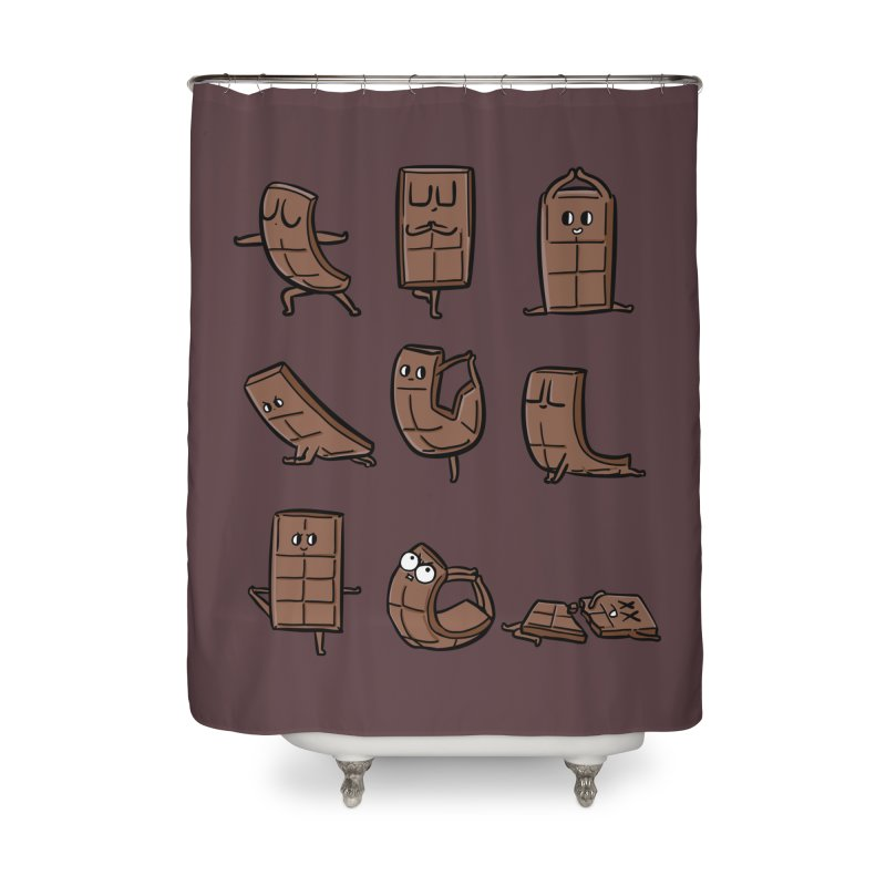 Chocolate Yoga Home Shower Curtain by huebucket's Artist Shop