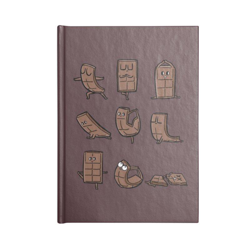 Chocolate Yoga Accessories Blank Journal Notebook by huebucket's Artist Shop