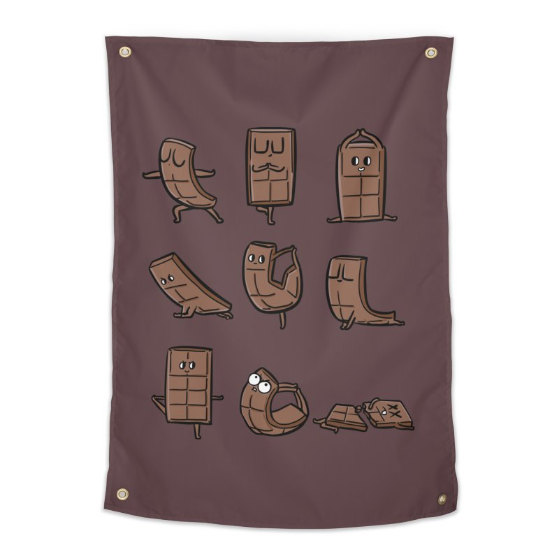 Chocolate Yoga Home Tapestry by huebucket's Artist Shop