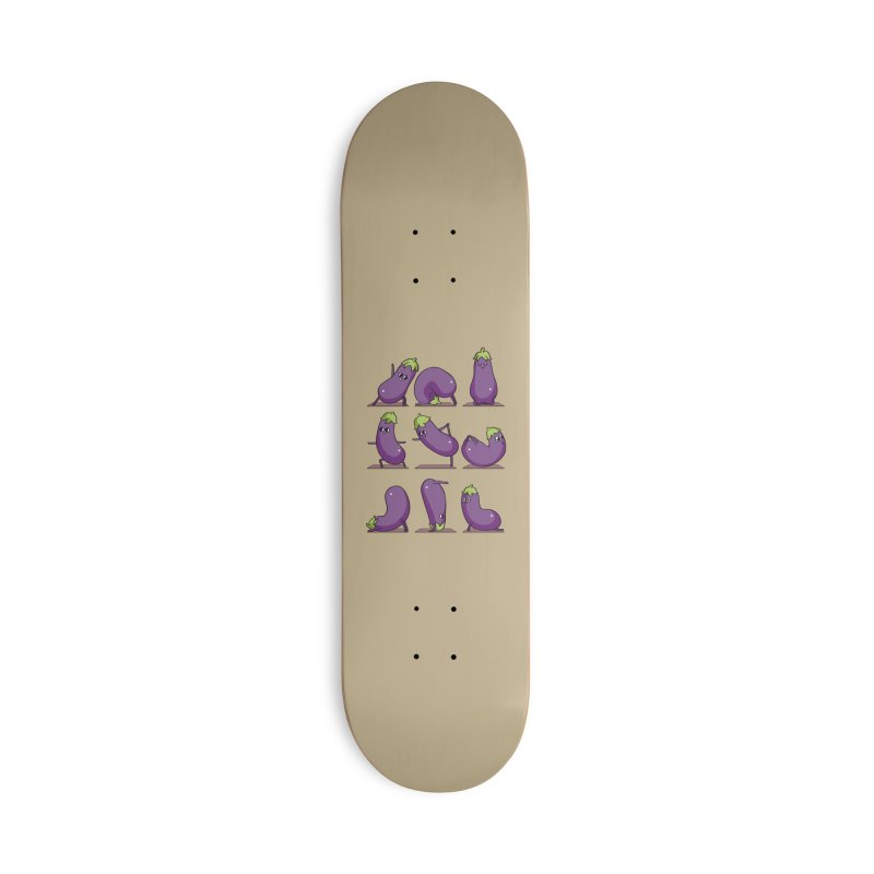 Eggplant Yoga Accessories Deck Only Skateboard by huebucket's Artist Shop