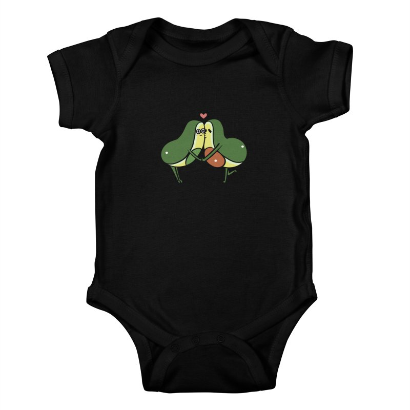 Avocado Kisses Kids Baby Bodysuit by huebucket's Artist Shop