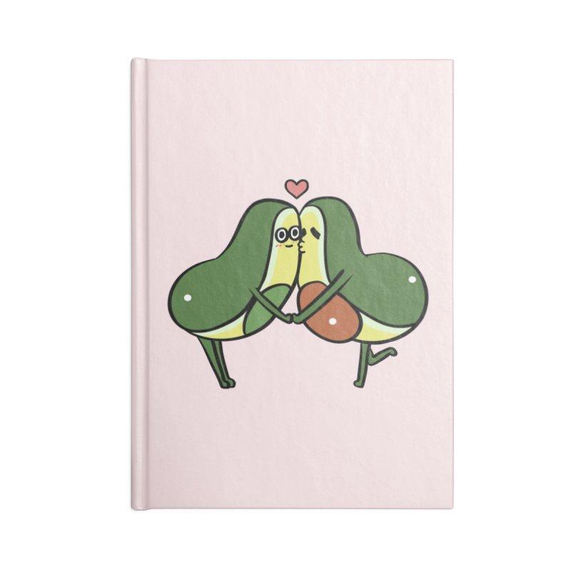 Avocado Kisses Accessories Blank Journal Notebook by huebucket's Artist Shop