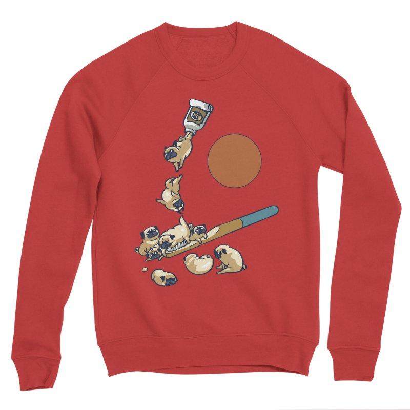 Good Morning Pugs Men's Sponge Fleece Sweatshirt by huebucket's Artist Shop