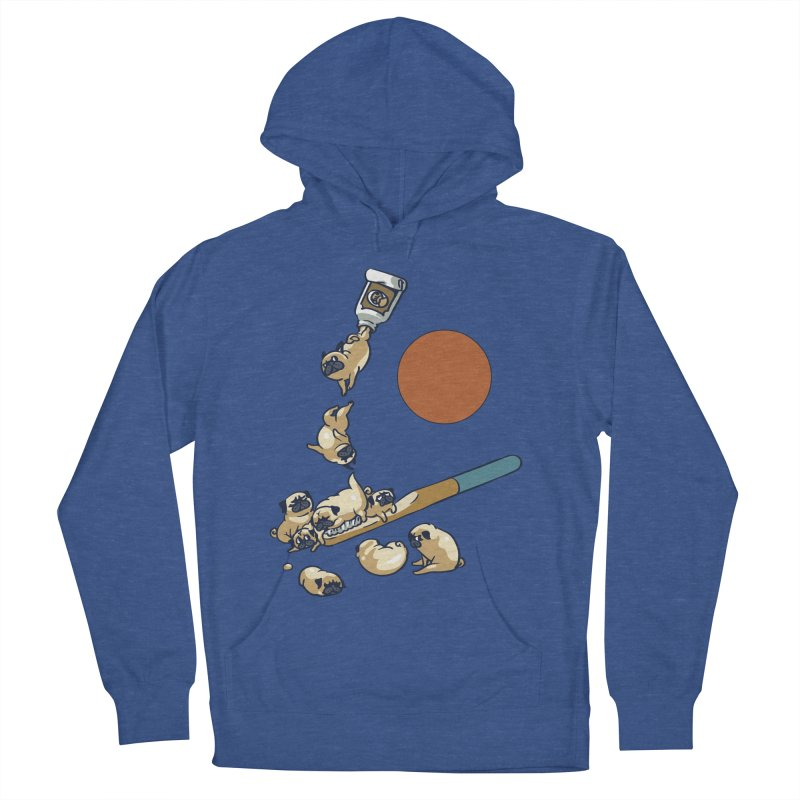 Good Morning Pugs Men's French Terry Pullover Hoody by huebucket's Artist Shop