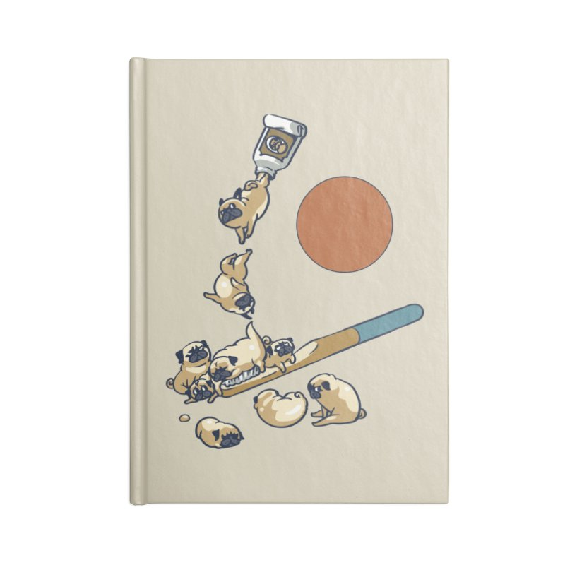 Good Morning Pugs Accessories Blank Journal Notebook by huebucket's Artist Shop