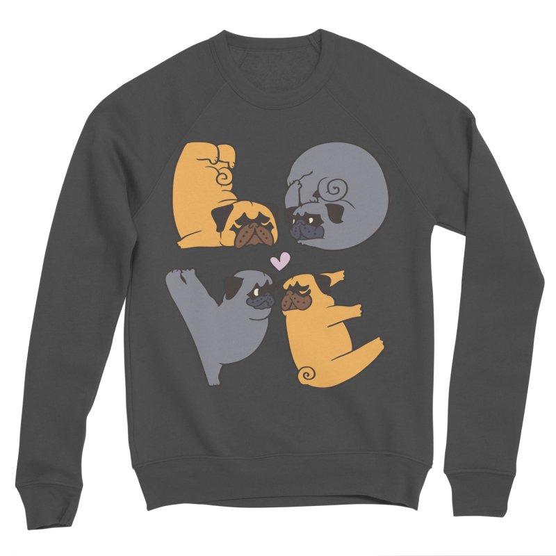Pug Yoga of Love Men's Sponge Fleece Sweatshirt by huebucket's Artist Shop