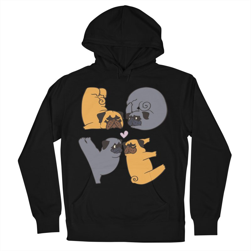 Pug Yoga of Love Men's French Terry Pullover Hoody by huebucket's Artist Shop