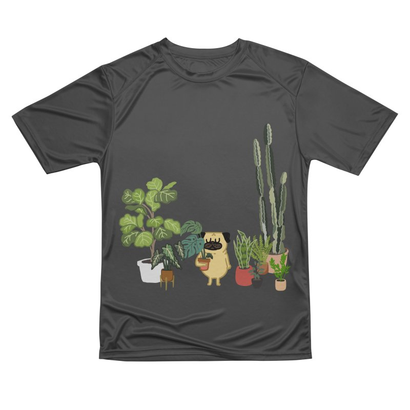 Pug and Plants Men's Performance T-Shirt by huebucket's Artist Shop