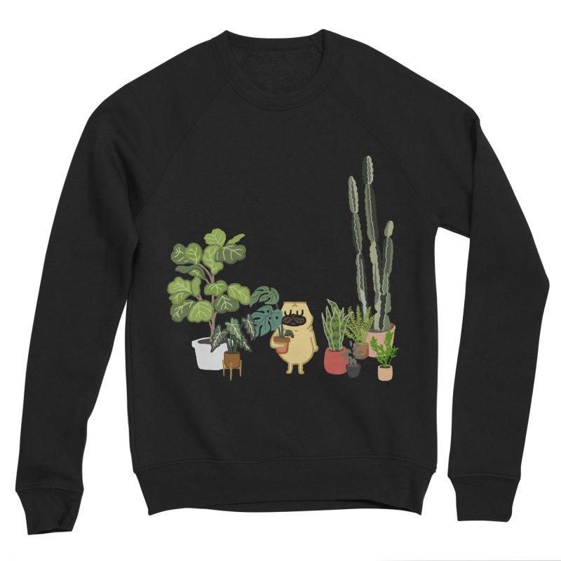 Pug and Plants Men's Sponge Fleece Sweatshirt by huebucket's Artist Shop