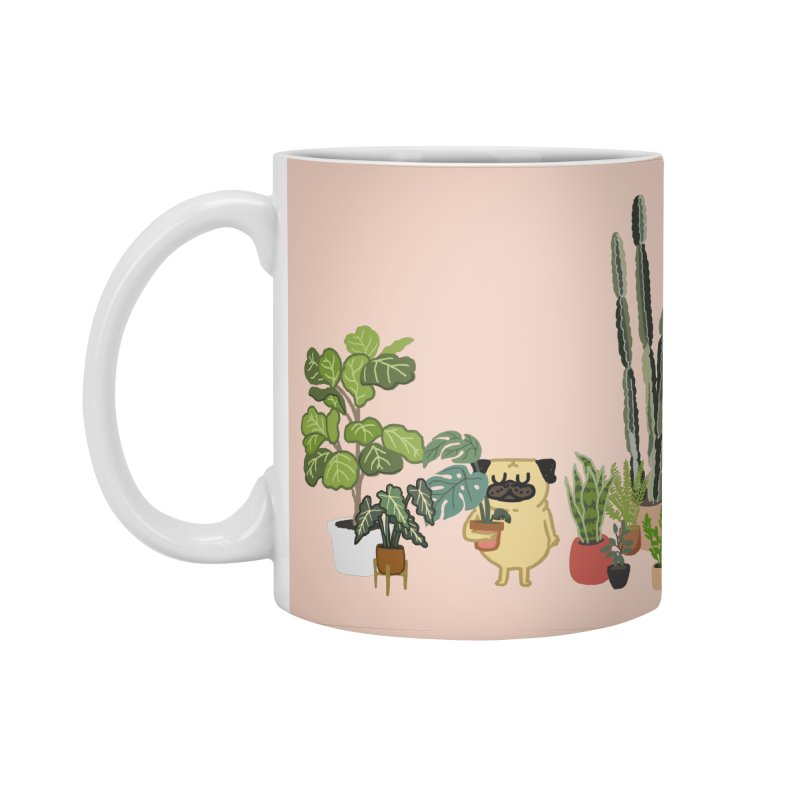 Pug and Plants Accessories Standard Mug by huebucket's Artist Shop
