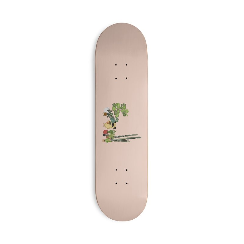 Pug and Plants Accessories Deck Only Skateboard by huebucket's Artist Shop