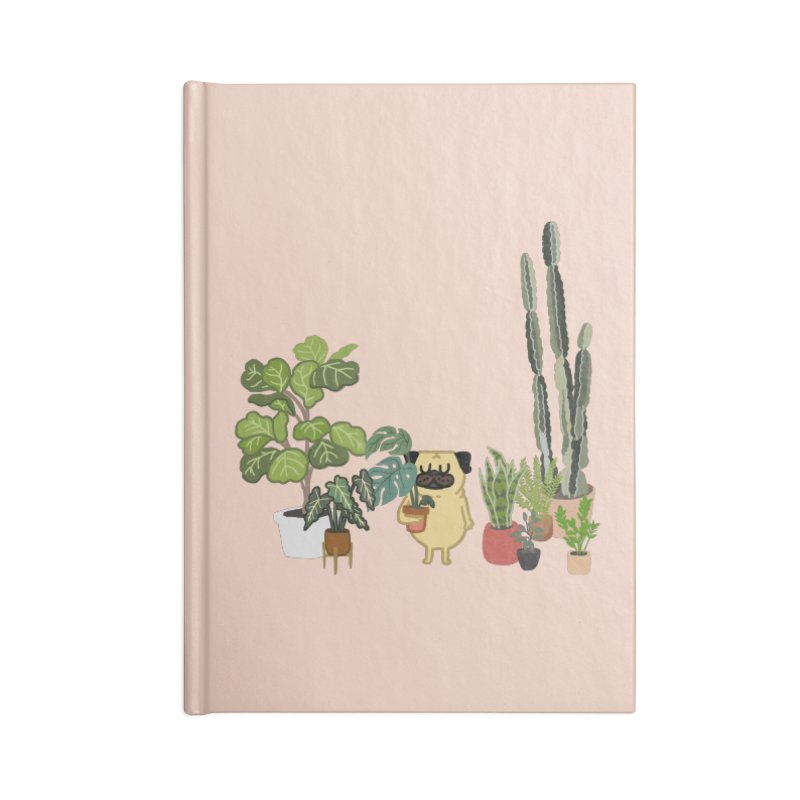 Pug and Plants Accessories Blank Journal Notebook by huebucket's Artist Shop